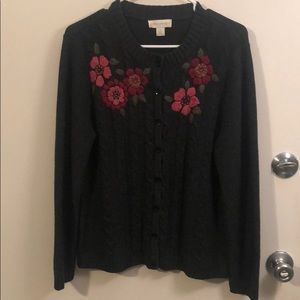 Appleseed's Embroidered Cardigan